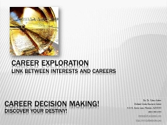 career exploration analysis This study is to analyze the effects of medical students' social support and career barriers on career exploration behavior mediated by career.